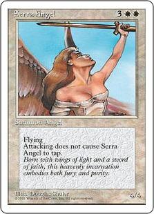 《セラの天使/Serra Angel》[4ED] 白U