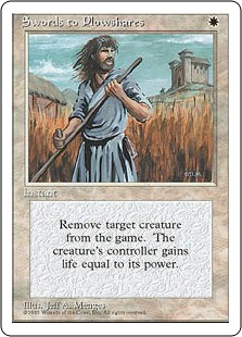 《剣を鍬に/Swords to Plowshares》[4ED] 白U