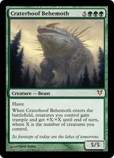 《孔蹄のビヒモス/Craterhoof Behemoth》[AVR] 緑R