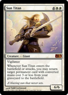 《太陽のタイタン/Sun Titan》[M12] 白R