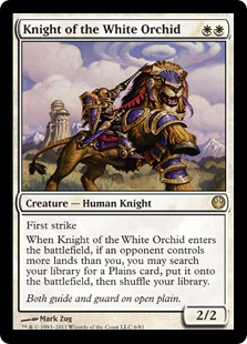 《白蘭の騎士/Knight of the White Orchid》[KvD] 白R