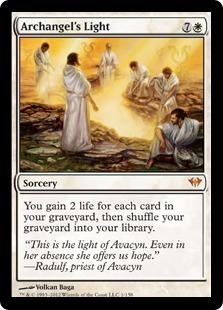 【Foil】《大天使の光/Archangel's Light》[DKA] 白R