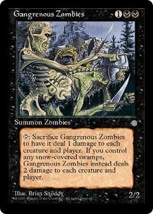 《壊疽のゾンビ/Gangrenous Zombies》[ICE] 黒C