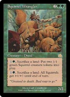 【Foil】《リス番/Squirrel Wrangler》[PCY] 緑R