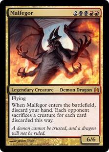 《マルフェゴール/Malfegor》[CMD] 金R