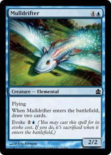 《熟考漂い/Mulldrifter》[CMD] 青C
