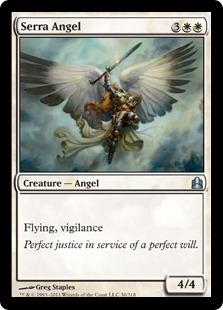 《セラの天使/Serra Angel》[CMD] 白U