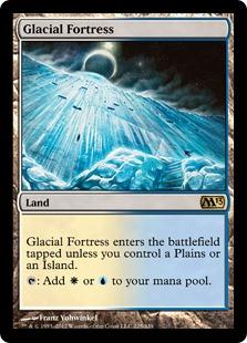 《氷河の城砦/Glacial Fortress》[M13] 土地R