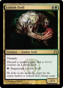 【Foil】《ロッテスのトロール/Lotleth Troll》[RTR] 金R