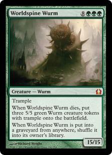《世界棘のワーム/Worldspine Wurm》[RTR] 緑R
