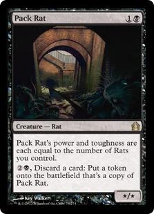 《群れネズミ/Pack Rat》[RTR] 黒R