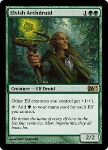 《エルフの大ドルイド/Elvish Archdruid》[M13] 緑R