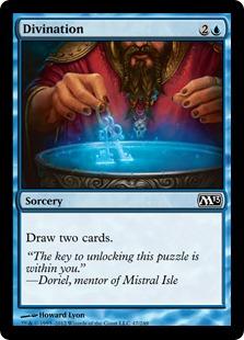 【Foil】《予言/Divination》[M13] 青C