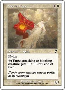 《天使の従者/Angelic Page》[7ED] 白C
