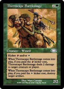 《荊景学院の戦闘魔道士/Thornscape Battlemage》[PLS] 緑U