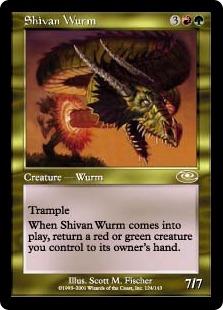 《シヴのワーム/Shivan Wurm》[PLS] 金R