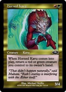 《有角カヴー/Horned Kavu》[PLS] 金C