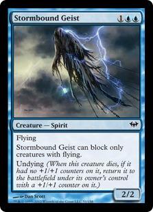 《嵐縛りの霊/Stormbound Geist》[DKA] 青C