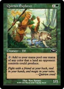 【Foil】《クウィリーオンの探検者/Quirion Explorer》[PLS] 緑C