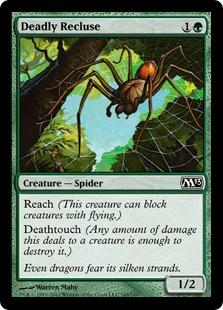 【Foil】《命取りの出家蜘蛛/Deadly Recluse》[M13] 緑C