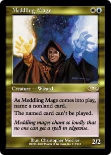 《翻弄する魔道士/Meddling Mage》[PLS] 金R