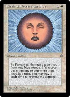 《青の防御円/Circle of Protection: Blue》[ICE] 白C