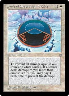 《白の防御円/Circle of Protection: White》[ICE] 白C