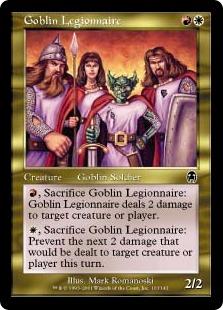 《ゴブリンの軍団兵/Goblin Legionnaire》[APC] 金C