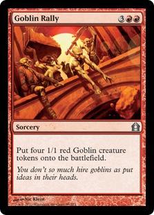 《ゴブリンの結集/Goblin Rally》[RTR] 赤U