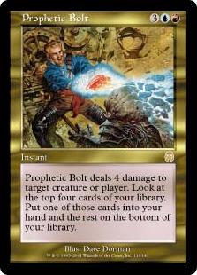 《予言の稲妻/Prophetic Bolt》[APC] 金R