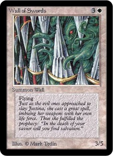 《剣の壁/Wall of Swords》[LEA] 白U