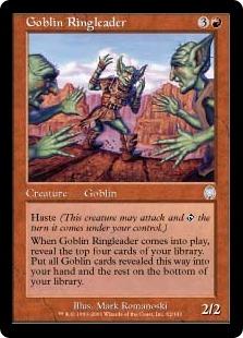 《ゴブリンの首謀者/Goblin Ringleader》[APC] 赤U