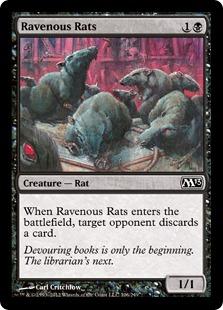 《貪欲なるネズミ/Ravenous Rats》[M13] 黒C