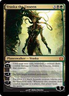 《見えざる者、ヴラスカ/Vraska the Unseen》[RTR] 金R