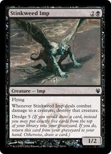 《臭い草のインプ/Stinkweed Imp》[IvG] 黒C