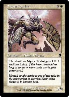 《秘教の盲信者/Mystic Zealot》[ODY] 白C