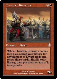《ドワーフ徴募兵/Dwarven Recruiter》[ODY] 赤U