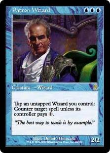《守護ウィザード/Patron Wizard》[ODY] 青R