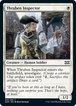 《スレイベンの検査官/Thraben Inspector》[2XM] 白C