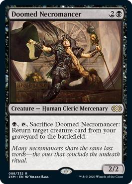 《宿命のネクロマンサー/Doomed Necromancer》[2XM] 黒R