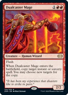《二重詠唱の魔道士/Dualcaster Mage》[2XM] 赤R