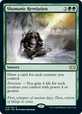 《巫師の天啓/Shamanic Revelation》[2XM] 緑R