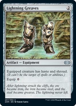 《稲妻のすね当て/Lightning Greaves》[2XM] 茶U