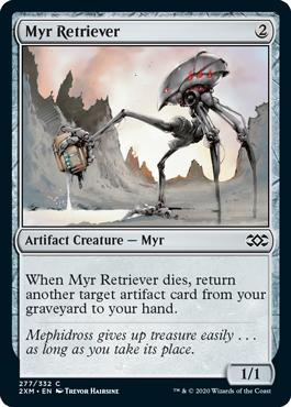 《マイアの回収者/Myr Retriever》[2XM] 茶C