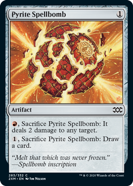 《黄鉄の呪文爆弾/Pyrite Spellbomb》[2XM] 茶C