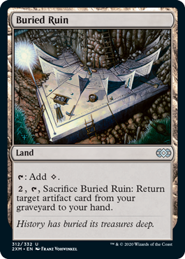 《埋没した廃墟/Buried Ruin》[2XM] 土地U