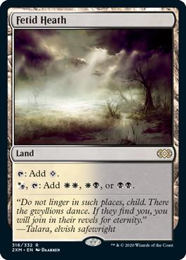 《悪臭の荒野/Fetid Heath》[2XM] 土地R