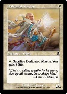 《ひたむきな殉教者/Dedicated Martyr》[ODY] 白C