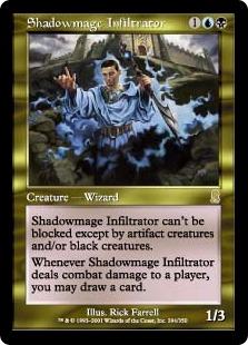 《影魔道士の浸透者/Shadowmage Infiltrator》[ODY] 金R