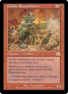《ゴブリンの名手/Goblin Sharpshooter》[ONS] 赤R